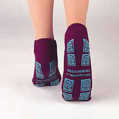 Slipper Socks TredMates X-Large Red Ankle High