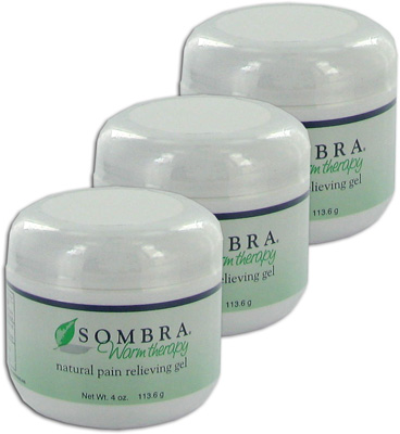 Sombra Warm Therapy Natural Pain Relieving Gel - 4 oz Jar (3 Pack)