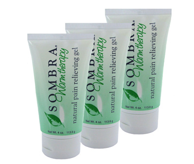 Sombra Warm Therapy Natural Pain Relieving Gel - 4 oz Tube - 3 Pack