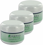 Sombra Warm Therapy Natural Pain Relieving Gel - 8 oz (3 Pack) Jar