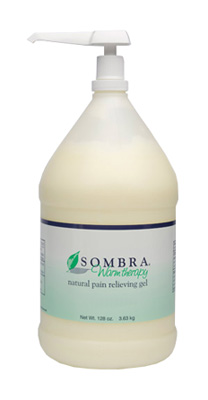 Sombra Warm Therapy Natural Pain Relieving Gel Pump Bottle - 128 oz (1 Gallon)