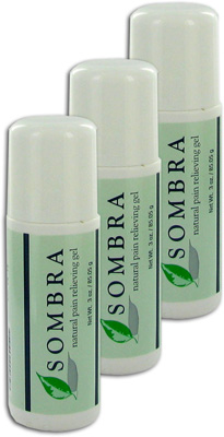 Sombra Warm Therapy Natural Pain Relieving Gel Roll-On - 3 oz (3 Pack)