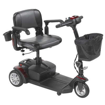 Spitfire EX2 3-Wheel Travel Scooter, Standard Battery by Drive Medical SFEX2317FS-12