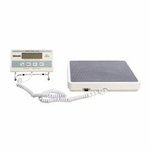 Stand-On Scale LCD 400 x 0.2 lbs. White 6 AA batteries included, optional ADPT40 power adapter