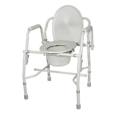 Drive Medical Steel Drop Arm Bedside Commode with Padded Arms Model 11125kd-1