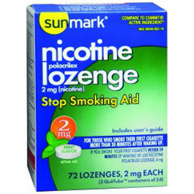 Stop Smoking Aid sunmark 2 mg Strength Lozenge