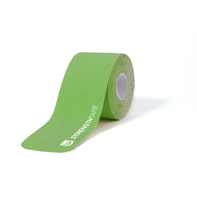 StrengthTape 5m (16.7) Roll of 20 Pre-Cut 10 in Kinesiology Tape Strips - Green - 1 ea.