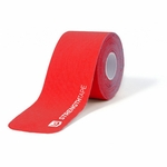 StrengthTape 5m (16.7) Roll of 20 Pre-Cut 10 in Kinesiology Tape Strips - Red - 1 ea.