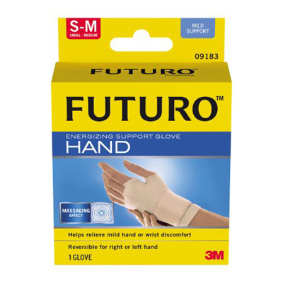 Support Glove Futuro Fingerless Small / Medium Over-the-Wrist Ambidextrous Nylon / Spandex