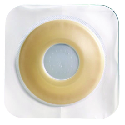 Sur-Fit Natura Colostomy Barrier Pre-Cut, Extended Wear Durahesive, White Tape 2-1/4 in Flange Hydrocolloid 2 in Stoma