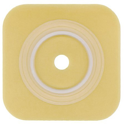 Sur-Fit Natura Ostomy Barrier Sur-Fit Natura, Durahesive Trim to Fit Without Tape 1-1/4 in Flange 4 x 4 Inch