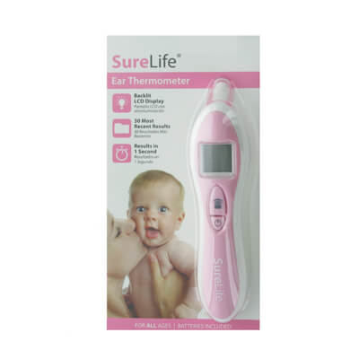 SureLife Ear Thermometer, Pink - Model 860103