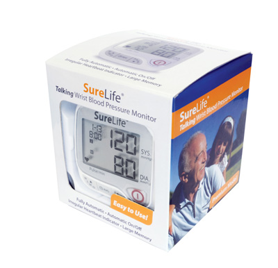 SureLife Talking Wrist Blood Pressure Monitor White Model 860212