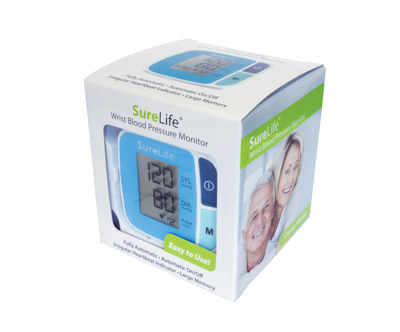 SureLife Wrist Blood Pressure Monitor Blue Model 860211