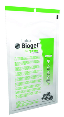 Biogel Surgical Glove - Surgeons Sterile Straw Powder Free Latex Hand Specific Micro-Textured Not Chemo Approved Size 8 - Case of 200