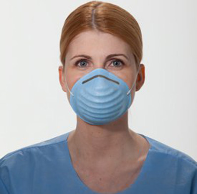 Size Fits Elastic Strap Surgical Most Mask Blue Cone One
