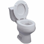 Tall-ette Toilet Seat Standard, 3 Inch, Hinged Elevated