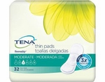 TENA Serenity Moderate Thin Pads Long - 52070 - 128/cs