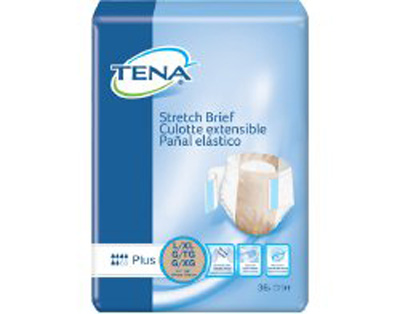 TENA Stretch Plus Briefs - Lrg / XL - 67603 - 72/cs