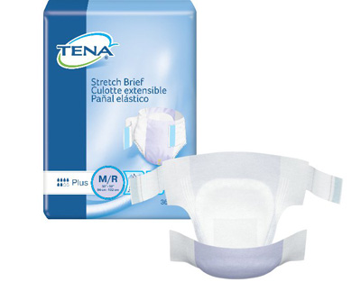 TENA Stretch Plus Briefs - Med / Reg - 67602 - 72/cs