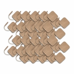 TENS Electrodes 1.5 x 1.5 in Square, Tan Mesh Backed - 40 Pads E1F1515TC2