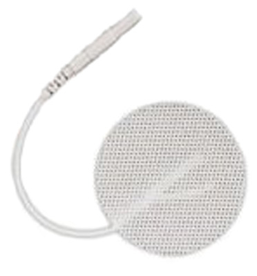 TENS Electrodes by Bodymed 1.25 in Round, White Mesh Backed - 4 Pads