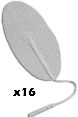 TENS Electrodes by BodyMed 1.5 x 2.5 Oval, White Mesh Backed - 16 Pads NPP628