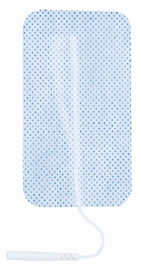 TENS Electrodes by Bodymed 1.5x3 in Rectangle, White Mesh - 4 Pads