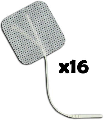 TENS Electrodes by BodyMed 2x2 in Square, White Mesh Backed - 16 Pads