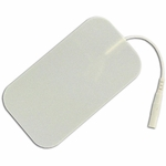 TENS Electrodes by BodyMed 2 x 3.5 in Rectangle, White Foam Backed - 4 Pads -NPP619
