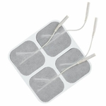 TENS Unit Electrode Pads, White Cloth Backed, 2 x 2 Square - 4 Pads