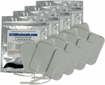 TENS Unit Electrode Pads, White Foamed Backed, 2 x 3.5 in Rectangle - 16 Pads