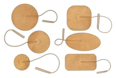 BioTENS (TENS STPWT) TENS Unit Tan Mesh Backing Silver Electrodes - Sample Pack of Assorted Sizes