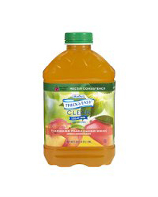 Thickened Beverage Thick & Easy 46 oz. Bottle Peach Mango Ready to Use Nectar