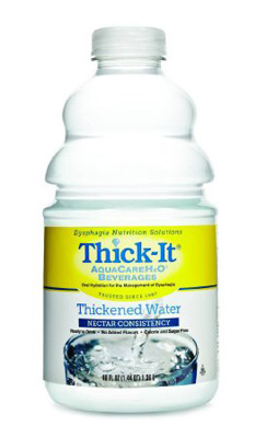 Thickened Beverage Thick-It AquaCareH2O 46 oz. Bottle Unflavored Ready to Use Nectar