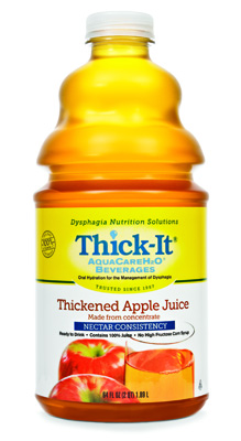 Thickened Beverage Thick-It AquaCareH2O 64 oz. Bottle Apple Ready to Use Honey