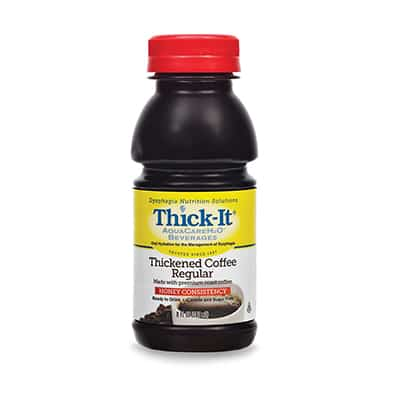 Thickened Beverage Thick-It AquaCareH2O 64 oz. Bottle Coffee Ready to Use Honey