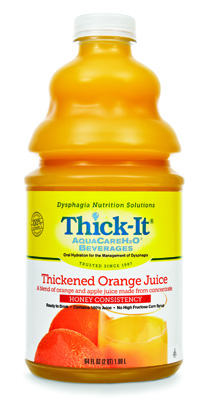 Thickened Beverage Thick-It AquaCareH2O 64 oz. Bottle Orange Ready to Use Honey
