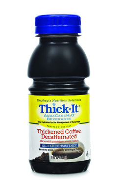 Thickened Decaffeinated Beverage Thick-It AquaCareH2O 8 oz. Bottle Coffee Ready to Use Nectar