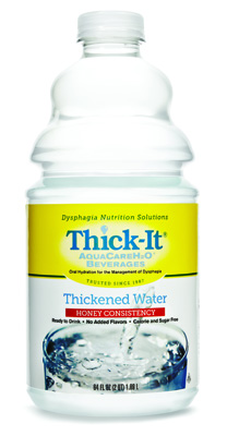 Thickened Water Thick-It AquaCareH2O 64 oz. Bottle Unflavored Ready to Use Honey
