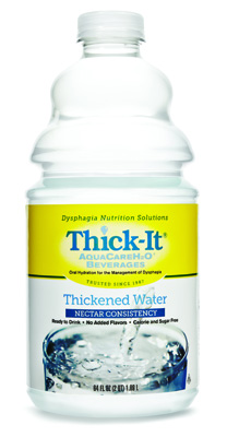 Thickened Water Thick-It AquaCareH2O 64 oz. Bottle Unflavored Ready to Use Nectar
