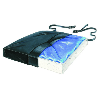 Thin-Line Seat Cushion, 16 X 16 X 1-1/2 Inch Gel / Foam