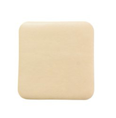 Thin Silicone Foam Dressing McKesson Lite 3 X 3 Inch Square Silicone Gel Adhesive without Border Sterile