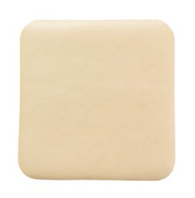 Thin Silicone Foam Dressing McKesson Lite 4 X 4 Inch Square Silicone Gel Adhesive without Border Sterile