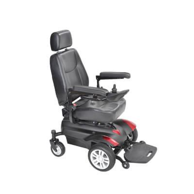Drive Medical Titan Front Wheel Power Wheelchair 20 inch Captain Seat titan20cs