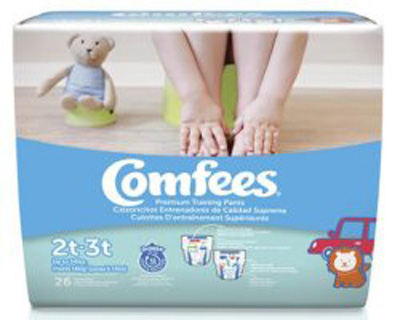Comfees Toddler Training Pants Pull On 2T - 3T Disposable Moderate Absorbency - CMF-B2 - Case of 156