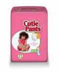 Cuties Toddler Training Pants Pull On 3T - 4T Disposable Heavy Absorbency CR8008 - Case of 92