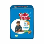 Cuties Toddler Training Pants Cutie On 3T - 4T Disposable Heavy Absorbency CR8007 - Case of 92