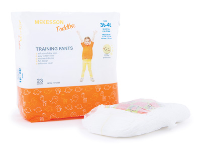Toddler Training Pants McKesson Pull On 3T - 4T Disposable Heavy Absorbency