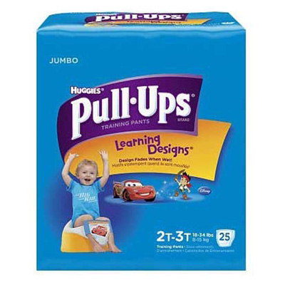 Toddler Training Pants Pull-Ups Learning Designs Pull On 2T - 3T Disposable Heavy Absorbency